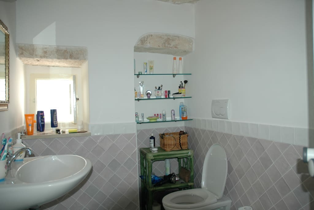 Bath room with trulli roof