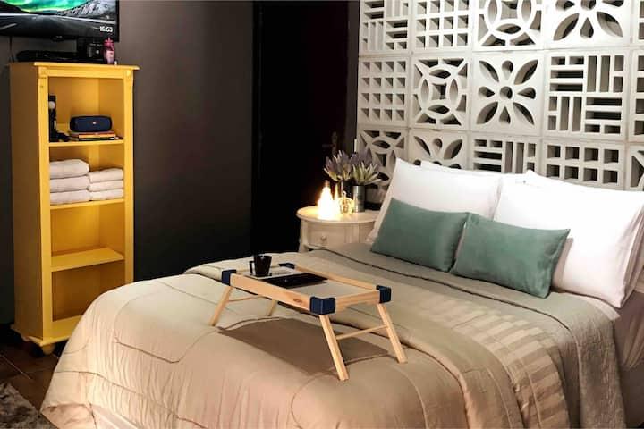 Seu quarto em São Chico! Estilo, praia e conforto!