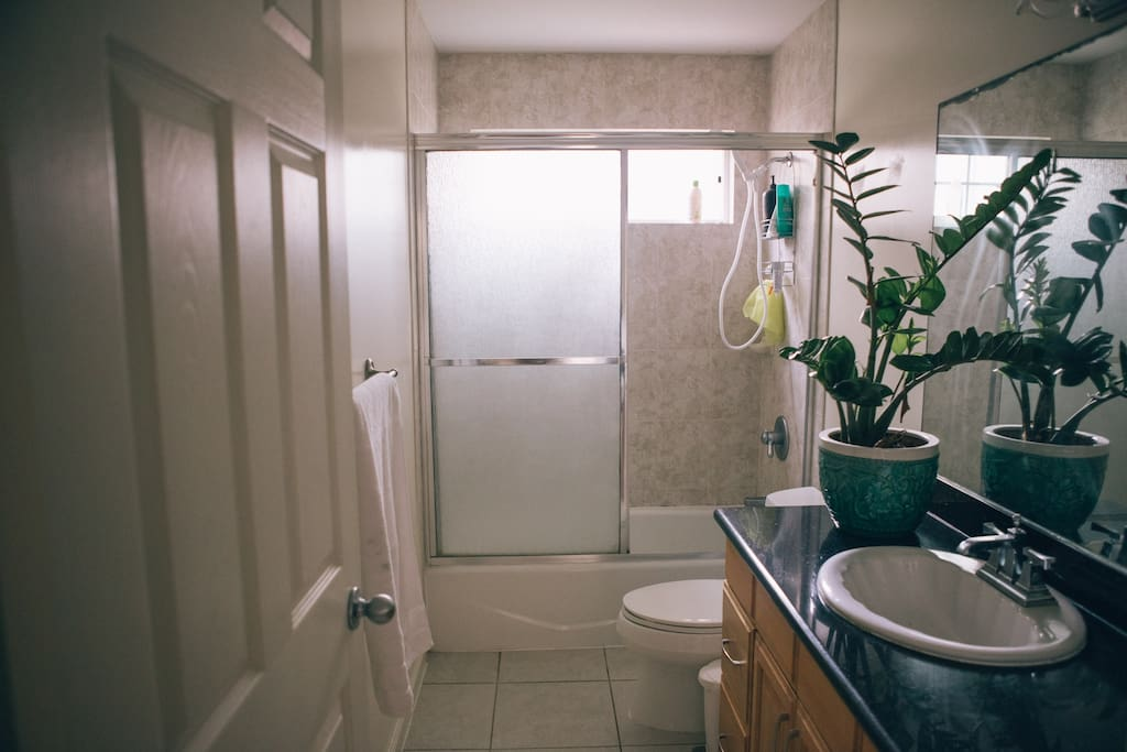 Bathroom shared space.