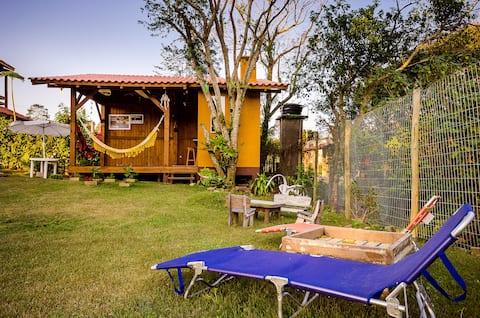 LINDA e ECONÔMICA Cabana, Conforto e Aconchego :)