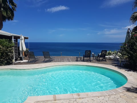 Cottage, 2-4P, stunning views of the Caribbean Sea