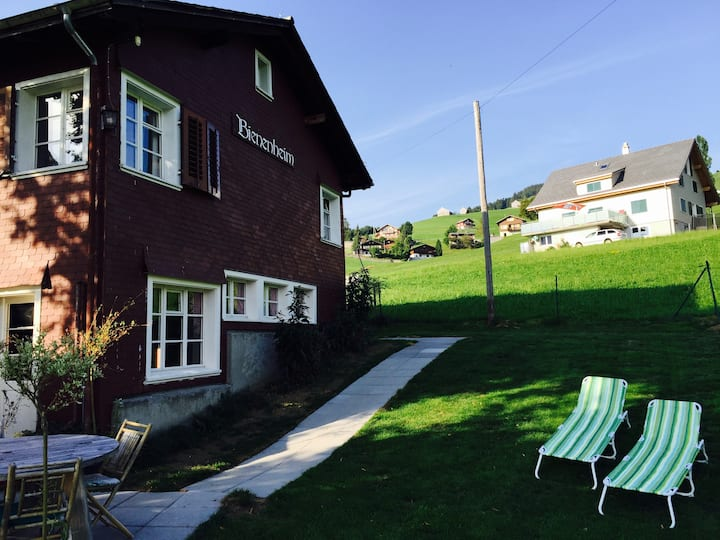 Alpine 6-Bedroom Apartment with Garden and View