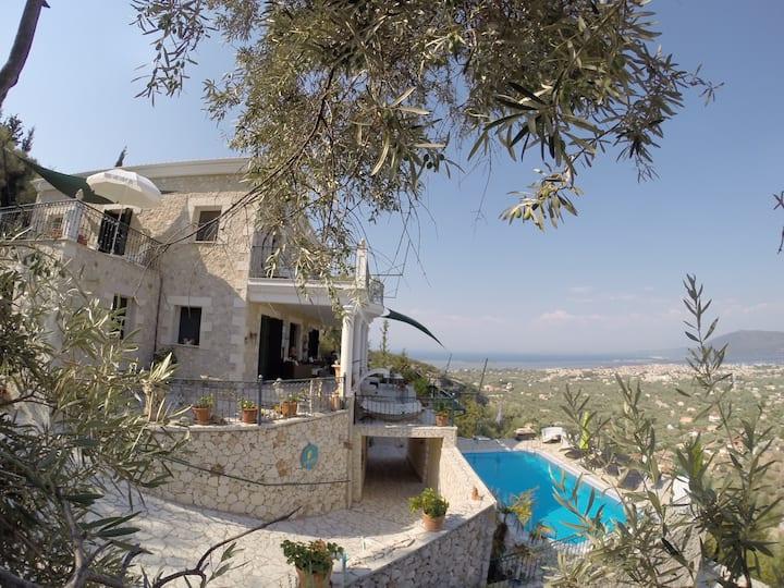 Ap. 55m² Lux Villa 2Terr. 2WC Seaview 9 min Strand