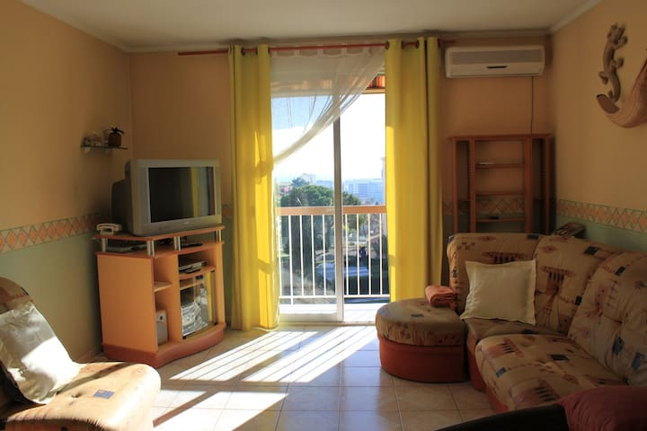 Nice west , sunny 3 rooms apartment with sea view