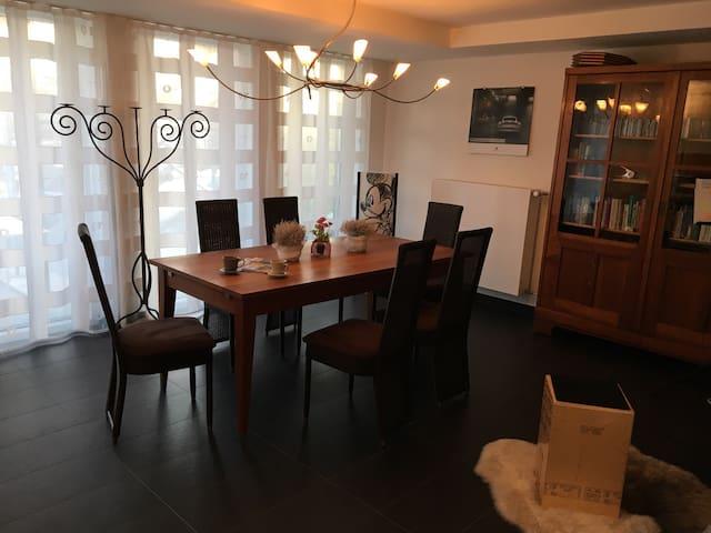 Helle Wohnung mit sonniger Terrasse in Stadtnähe - Bietigheim-Bissingen - Leilighet
