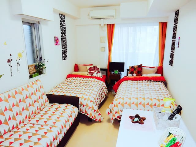 Clean&Cozy room. 1min-walk from the station - 台東区 - Apartment