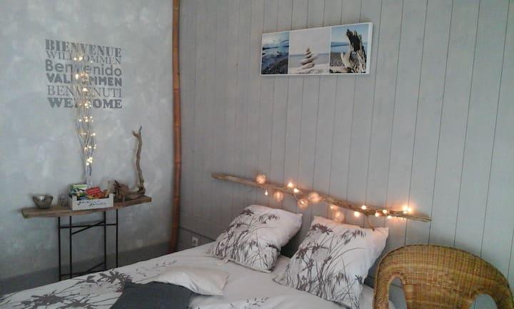 Chambre agréable et indépendante+terrasse privée