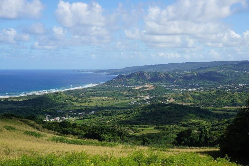 The vast landscape of the Barbados East Coast.