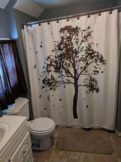 full bathroom plus half bath