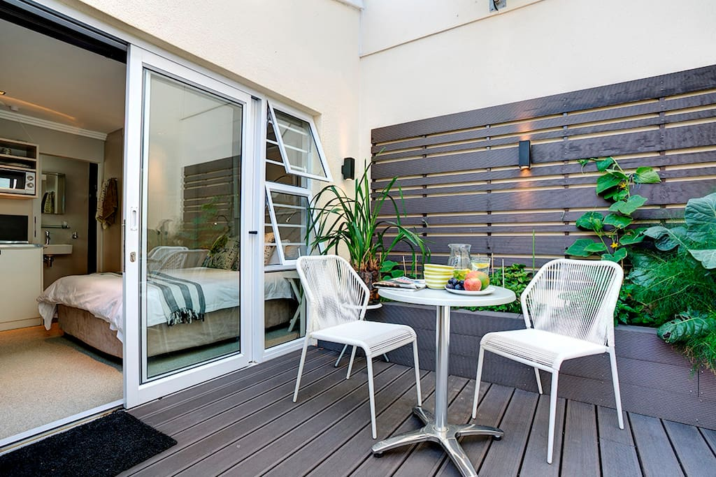 Sliding door to garden courtyard for your exclusive use
