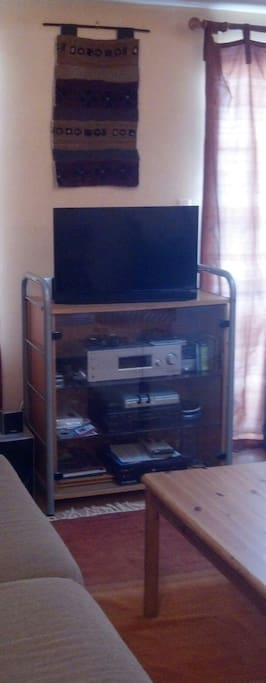 TV and stereo for your viewing and listening pleasure.