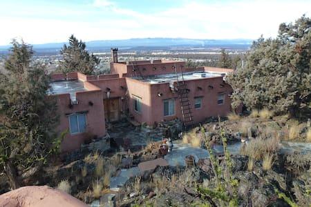 Santa Fe Pueblo on a cliff. - Bend