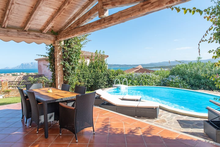 Villa with Private Pool and Beautiful Sea View - Villetta Nicola