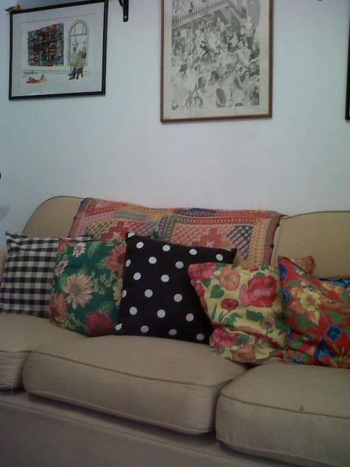 Sofá da saleta