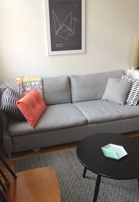 Our sofa is convertible and it can be turned on to a bed for two