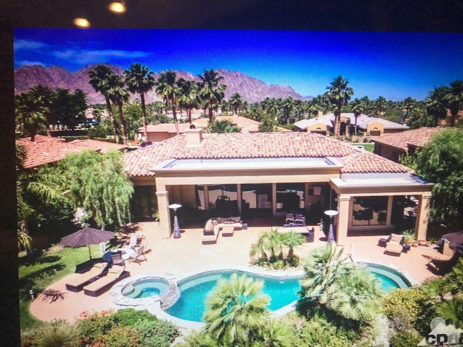 Back aerial view!  Custom home is very spacious 4,364 sqft  on Cul-De-Sac.