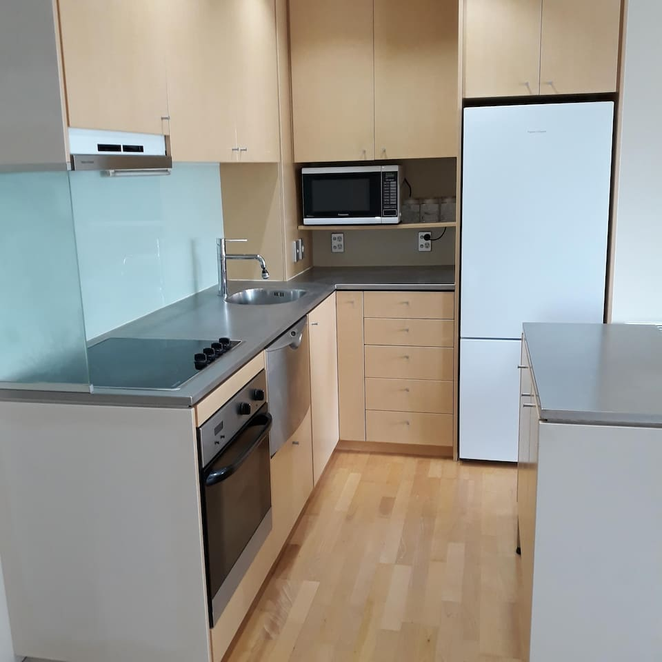 Kitchen with loads of cupboards and bench space