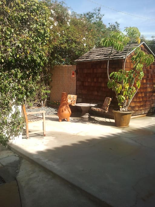 The out door seating area