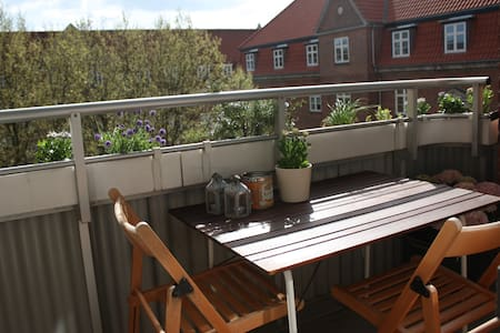 Our nice and bright two bedroom apartment centrally located at Frederiksberg on a quiet street close to the Metro, that takes you to the city center in 8 min. Parking in a private locked garage is included. Enjoy the sunny balcony. Fits 2-4 persons.