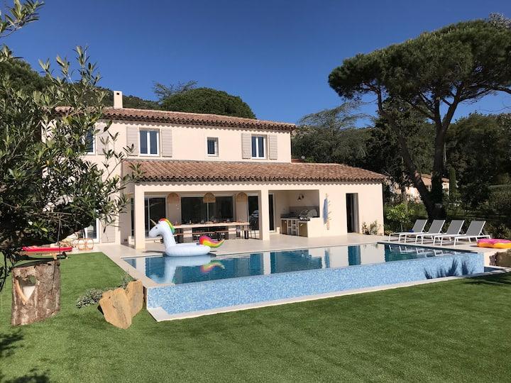 Villa Naamourade, heated pool, in Plan de la Tour.