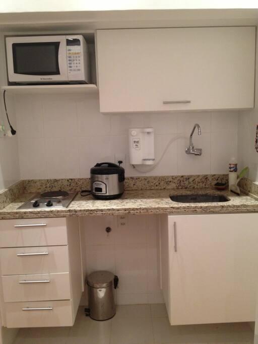 Cooktop, panela elétrica e filtro de água