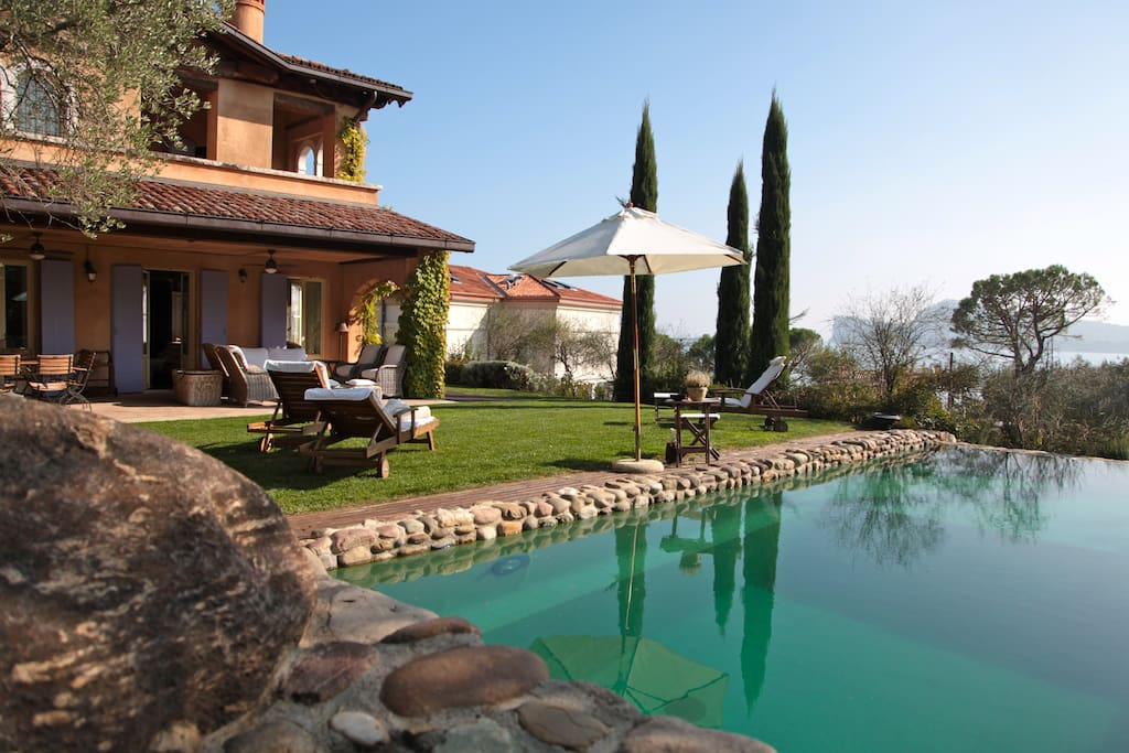 Panoramic View  Pool and Garden