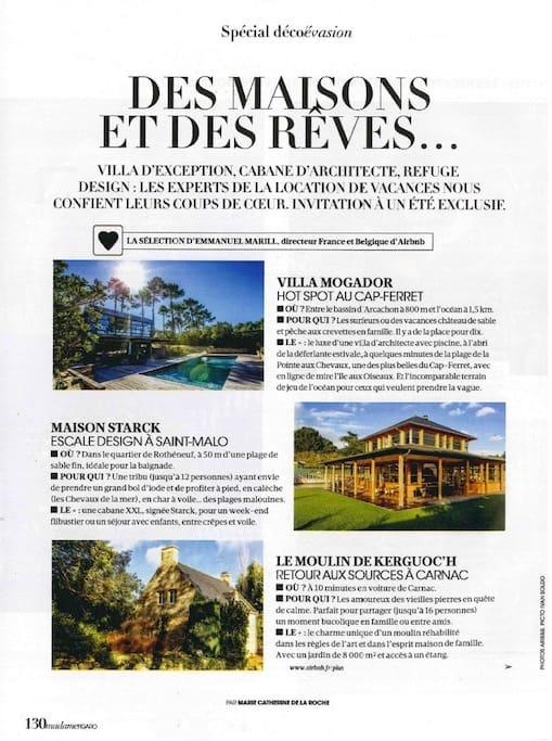 Article paru dans Madame Figaro du 24 avril 2018