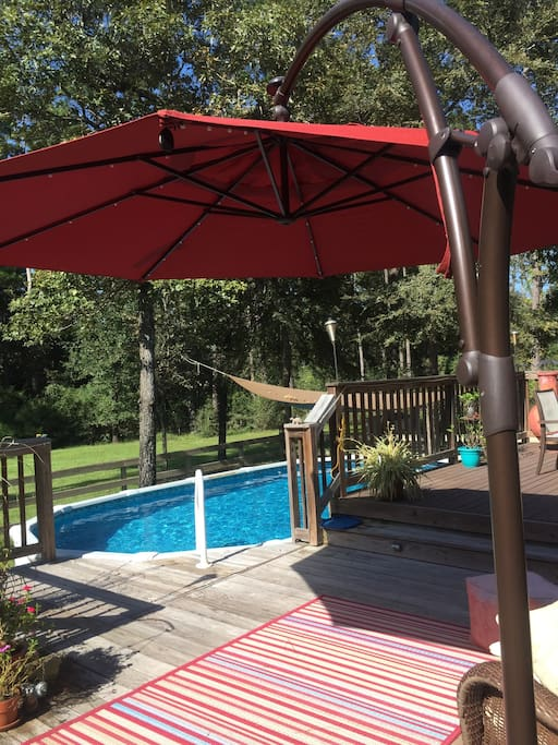 Large deck and pool are available for use