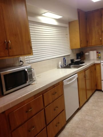 Fully Equipped Kitchen even includes a waffle maker.