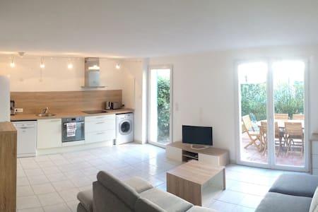 Villa 2 chambres & jardin à la mer WIFI PARKING - Torreilles - Haus