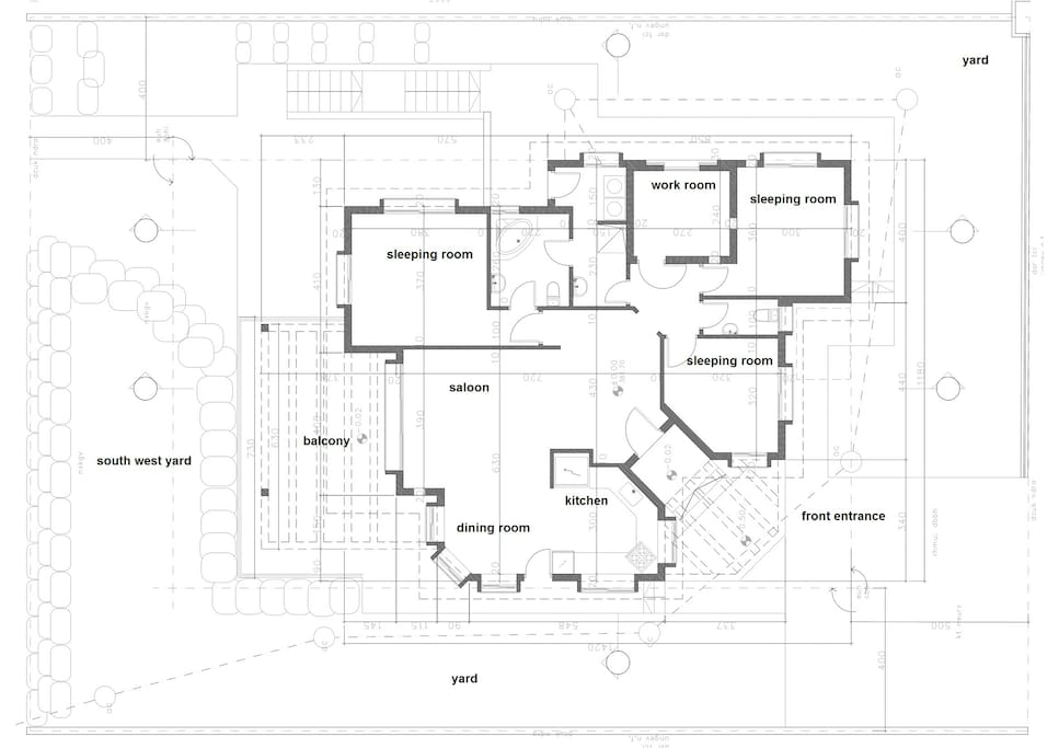 A scheme of our 120 square meters house