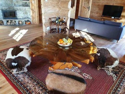 Odosobniona góralska chata z wyjątkowym widokiem