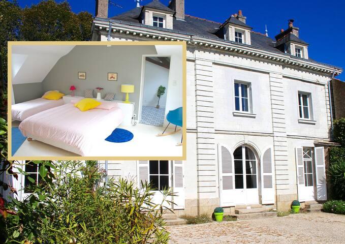 Etage privé dans maison de maître à Nantes 6 pers.