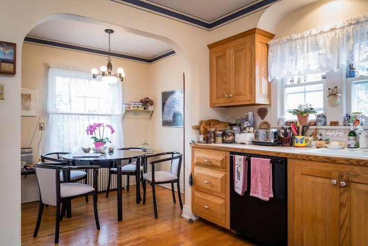 Enjoy breakfast in the cozy kitchen nook