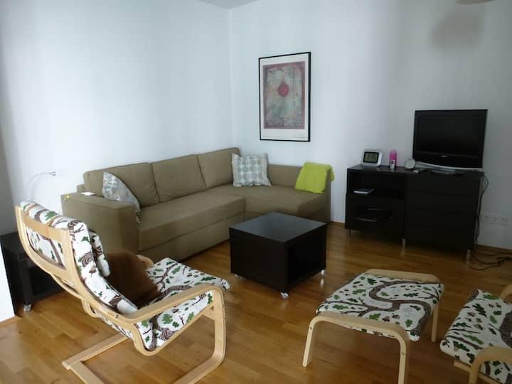 Quiet, bright apartment city center