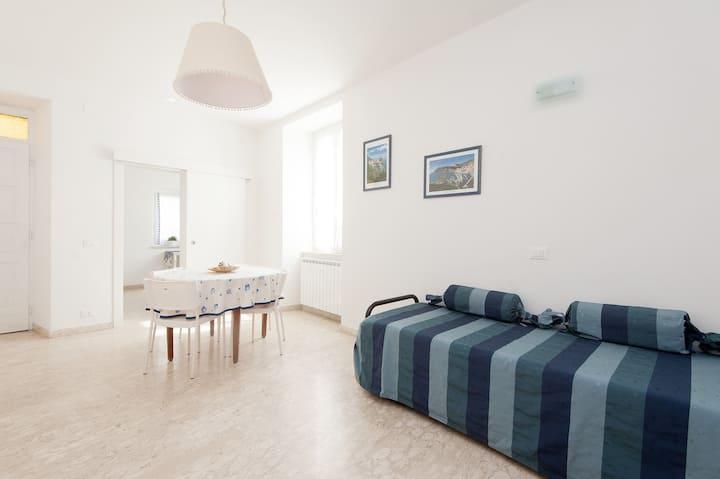 App.6Pax,2double bedrooms,2 bagni,Patio,WI-FI,Park