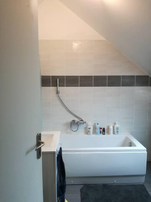 Salle de bain mis à votre disposition elle vous sera réservée