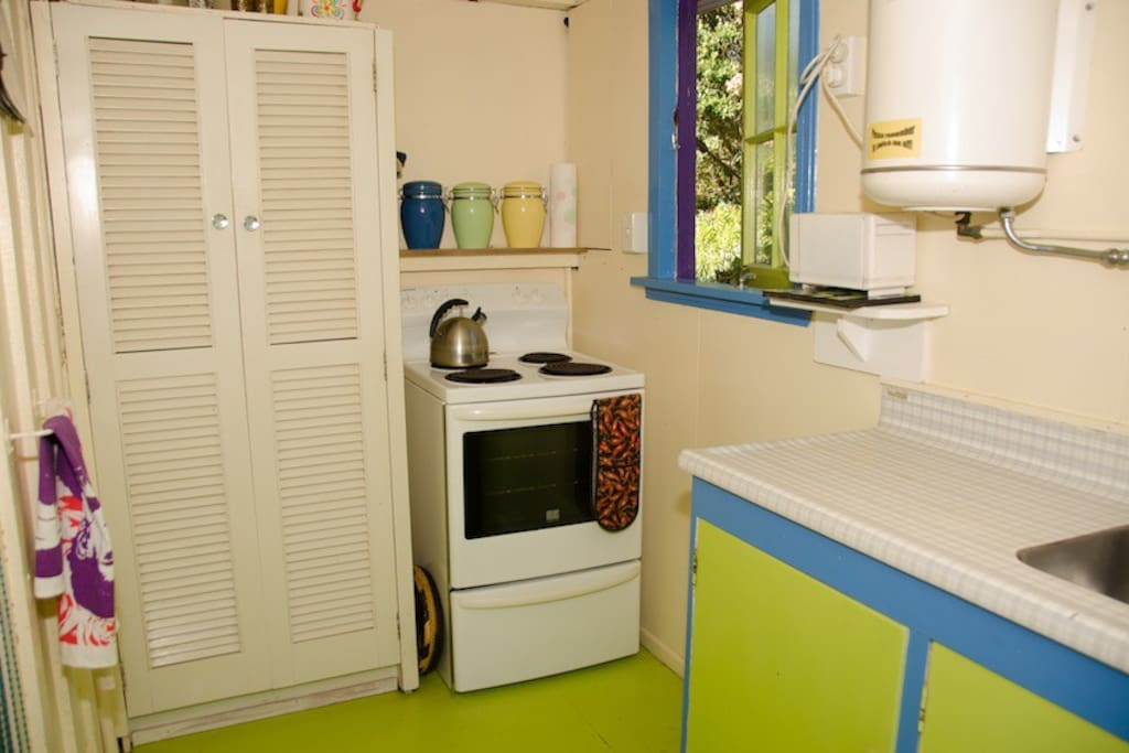 Kitchen - it's little but has everything you need!