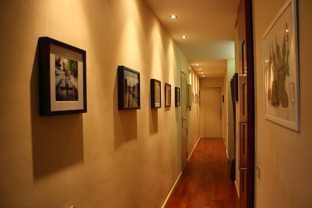 Vista pasillo desde el salón/comedor