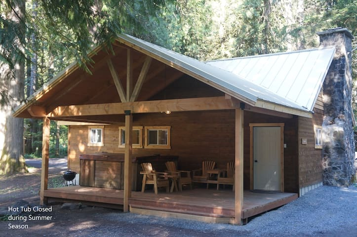 Sequoia Cabin w/ HOT TUB 1/2 mile from Mt. Rainier