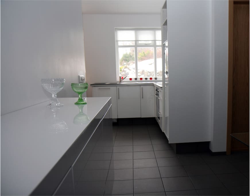 The kitchen with everything you need, dishwasher, oven est.