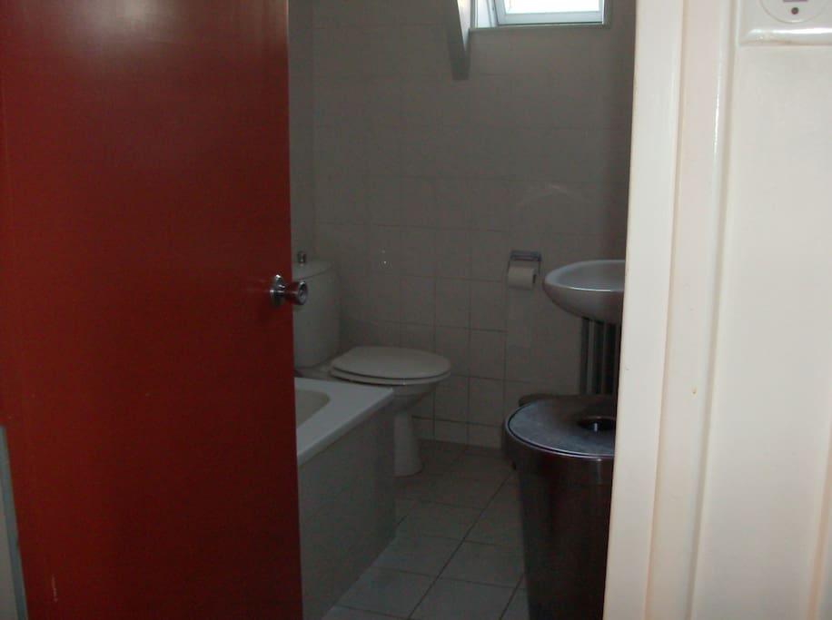 gedeelde badkamer/toilet