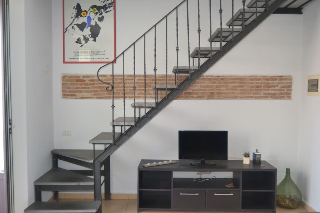 open space, soggiorno/area relax tv