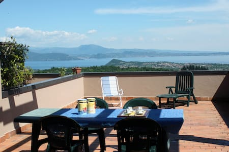Garda Lake terrace. 7pax, pool - Cassaga - Pis