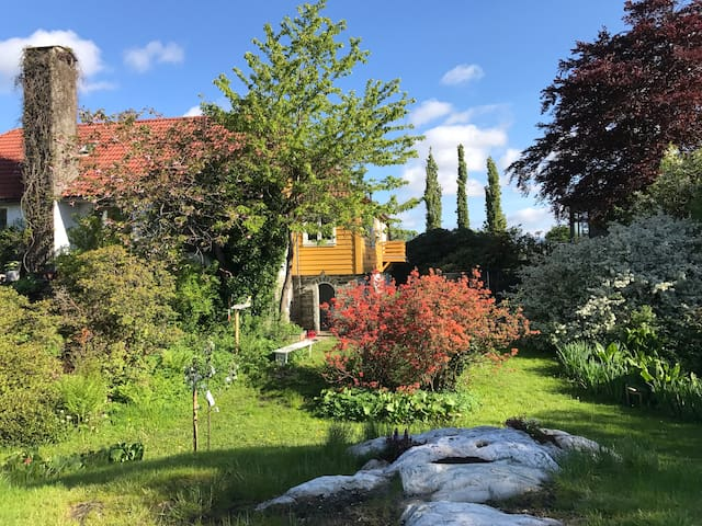 Family friendly garden view rooms in lovely villa