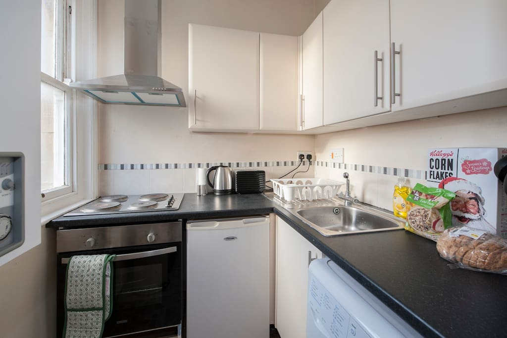 The small but perfectly formed kitchen!