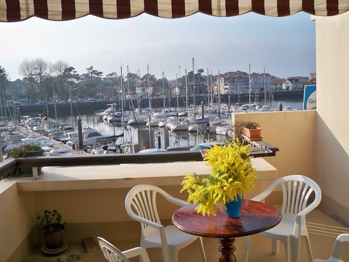 Appartement vue sur le port de plaisance Capbreton