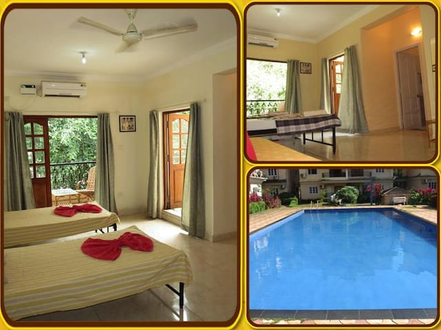 37) Central Calangute Serviced Studio & WiFi - Calangute