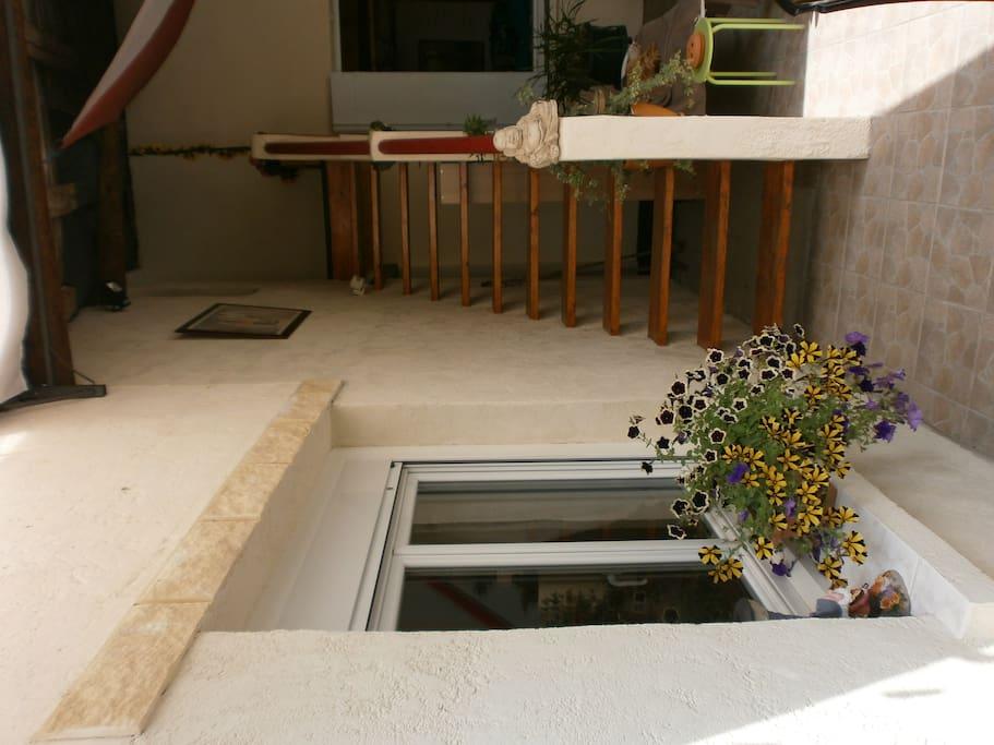escalier accés direct des chambres par l'exterieur