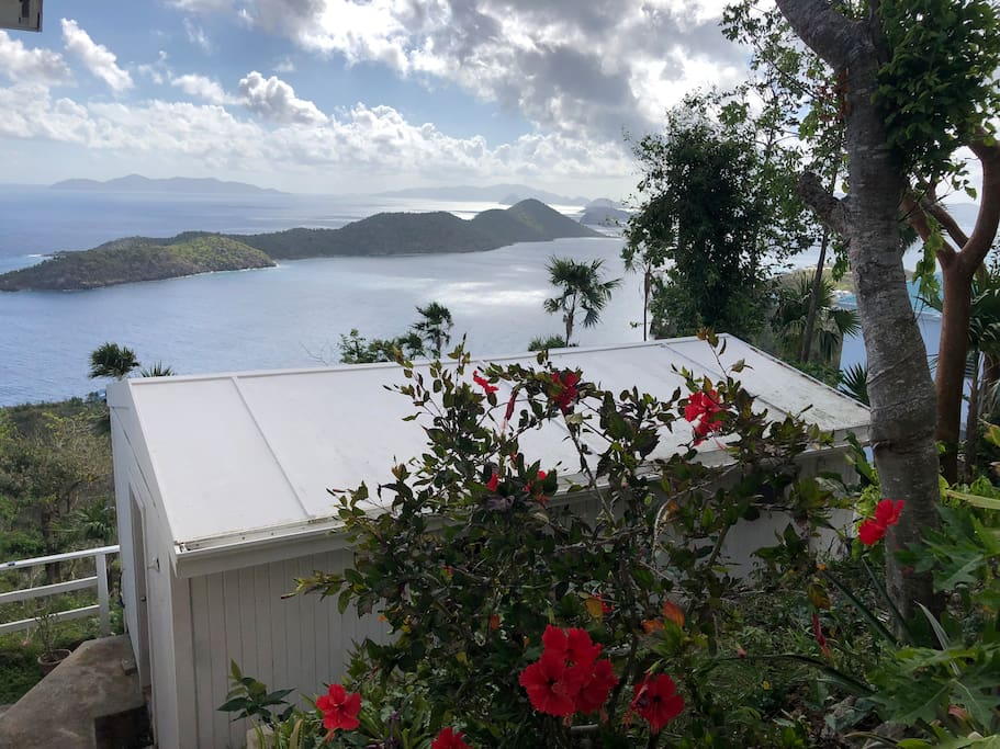 Best view on St. Thomas-- from your deck you can see St John, Tortola, Thatch Key and Jost Van Dyke